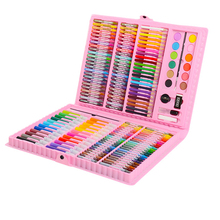 163pcs Art Set Kids Painting Brush Pen Children Crayons Watercolor Artist Tool Kit Drawing Gifts Box Supplies
