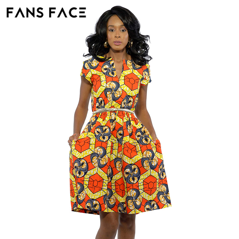 FANS FACE 2017 African Dresses For Women Dashiki African
