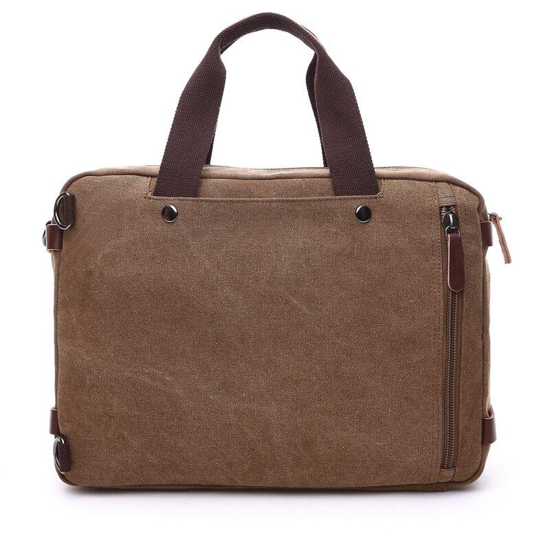 Men 39 s Canvas vintage Casual Briefcase man Business Shoulder Messenger Bag men Laptop Handbag male Messenger Crossbody Travel Bag in Briefcases from Luggage amp Bags