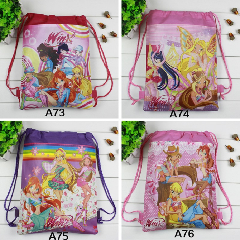New Carton Non-woven Fabrics Of Winx, Drawstring Backpack, Event & Party Gift Bag,shopping Bag