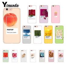цена на Yinuoda Pantone Candy Color Fruit Cookies sunshine sky Custom Phone Case for iPhone X XS MAX  6 6s 7 7plus 8 8Plus 5 5S SE XR 10