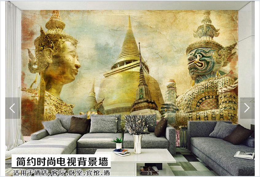 Customized 3d Photo Wallpaper 3d Wall Mural Wallpaper India Amorous  Feelings Of Nostalgia TV Setting Wall Living Room Decoration In Wallpapers  From Home ...