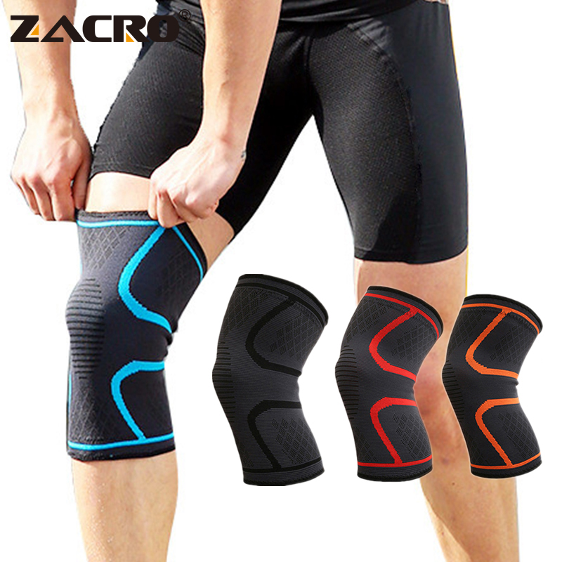 Zacro Fitness Running Cycling Knee Support Brace Elastic Nylon Sport Compression Knee Pad Sleeve for Basketball Volleyball