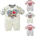 Macacão de bebê girls & boys clothing crianças curto & one-pieces roupas de corpo para as crianças eu amo o mama papa conjuntos de verão