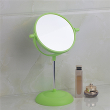 Bathroom Mirrors Green Bath Plastic Rotatable Magnifier Makeup Cosmetic 5333