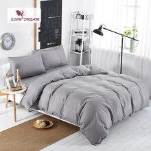 SlowDream Gray Bedding Set Bed Linen Nordic Bed Sheet Double Queen Single Japan Style Bedspread Decor Tatami Duvet Cover Set стоимость