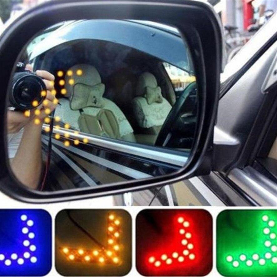New Car Brake Lights 14 SMD LED Arrow Panel For Car Rear View Mirror Indicator Turn Signal Light 35