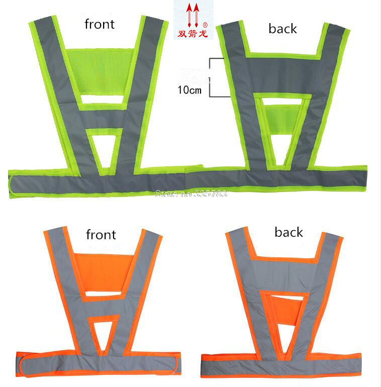 high quality Super reflective v-shaped vest, ride at night, the construction, high visibility safety belt in Night Reflective high quality high visibility safety