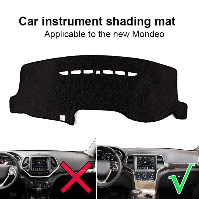 Крышка приборной панели силиконовый черный коврик приборной панели запчасти для грузовиков Солнцезащитная Накладка для машины Pad Dash Запчасти для Mondeo