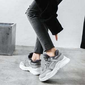 Image 4 - Bottes de neige en Faux daim pour femmes, chaussures chaudes, chaussures chaudes, fourrure, hiver 2020