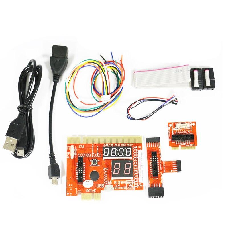 7 en 1 multifonction téléphone/ordinateur portable et ordinateur de bureau universel post Diagnostic carte de Test de débogage prise en charge PCI, PCI-E, LPC, Mini