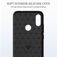 "soft tpu For Xiaomi Redmi Note7 Case Bumper Carbon Fiber Pattern Soft Silicone TPU Back Protective Cover Anti-fall Soft Shell 6.3"" (4)"