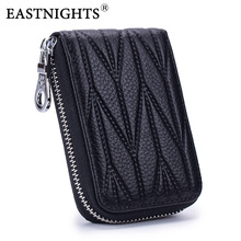 EASTNIGHTS men credit card holder long coin purse genuine leather women ID card wallet zipper cardholder 2017 genuine leather women men id card holder coin purse card wallet credit card business card holder protector organizer hb43