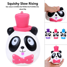 Squishying Mr Panda Hat Bow Tie Jumbo 13.5cm Slow Rising Toy Collection Gift Decor For Children  Novelty Gags Kids