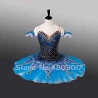 Взрослых голубая фея профессиональные балетные пачки сценическое Пышная юбка для девочек костюмы для балерины одежда для бальных танцев Д