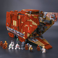 IN STOCK 05038 Star Force Awakens Sandcrawler Model Building Kit Blocks Brick lepin Wars Compatible legoinglys 75059 boys gifts