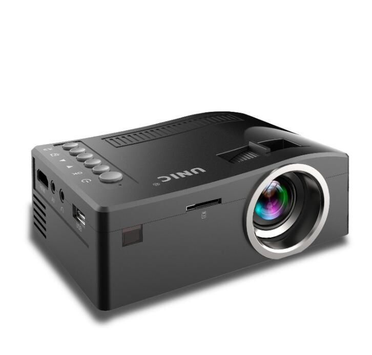 Holographic projector kit UNIC UC18 Mini Portable Projector with HDMI USB TF Card AV Cable LED Projector for Home theater Cinema цена