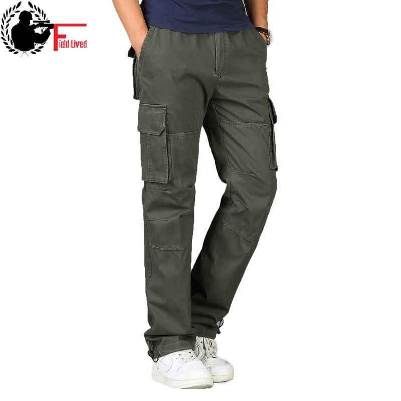 548a6286b01 Military Pants Men s Big Tall Large Size Plus Oversized Trouser Elastic  Waist Multi Pocket Cargo Pants
