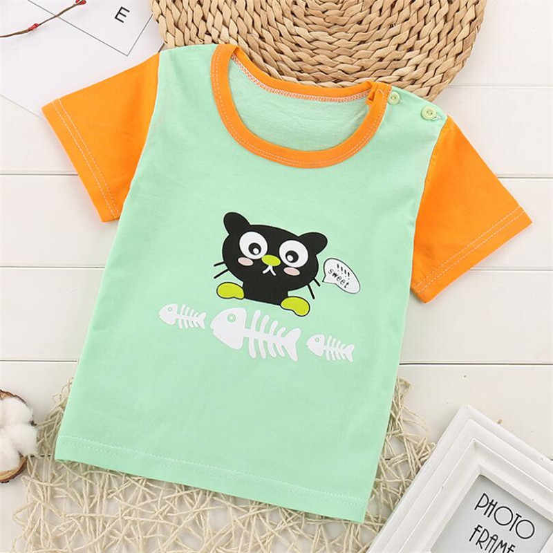 Baby Boys Girl T Shirt For Summer Infant Kids Boys Girls Short Sleeve T-Shirts Clothes Cotton Toddler Tops Tee  23 Styles