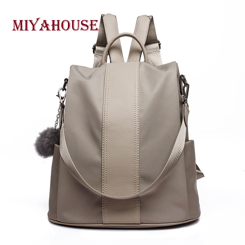 Miyahouse New Fashion Backpacks Female New Korean High Capacity Nylon Rucksacks Portable Student Shoulder School Bags