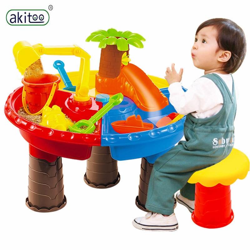Akitoo Kinderen Zomer Speelgoed Ouder-kind Strand Spelen Tafel Speelgoed Kinderen Spelen Zand Huis Dolfijn Boom Strand Tafel Sets Jimj Superieure Prestatie