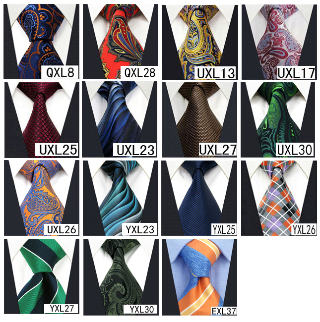 Image 5 - Wholesale Assorted Mens Ties Necktie Extra Long Size 63 inches Free Shipping 100% Silk Wedding Fashion Mixed Lot-in Men's Ties & Handkerchiefs from Apparel Accessories