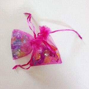 Image 5 - 1000 adet Gül Kırmızı hediye keseleri Için takı çantaları Ve Ambalaj organze çanta İpli Çanta Düğün/Kadın Depolama Ekran Torbalar