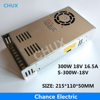300W 18V Switching power supply 16.5A Single Output 220V Input S 300W 18V With Fan Regulate AC to DC Led Switch Power