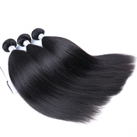 Yaki Straight Brazilian Hair Weave Bundles Coarse Yaki 100% Human Virgin Hair Bundles Venvee Hair Products Extensions