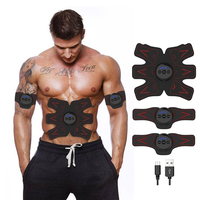 Full Set Rechargable Abdominal Muscle Toner Abs Toning Belt Abdominal /Arm/Leg Muscle Fitness Trainer Gear For Women/Men