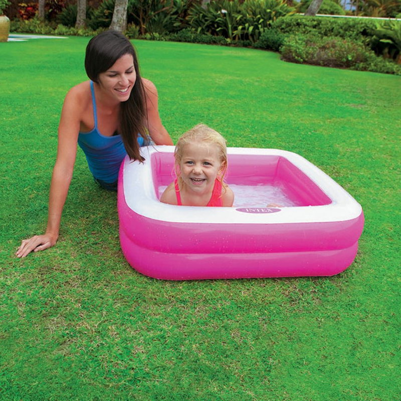 85*85*23cm High Quality Plastic inflatable Square red green Bottom inflatable Children take a bath Play water swimming pool tub high quality character newborn swimming pool children inflatable round bath tub free insulation