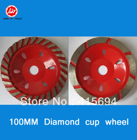 "4"" (100mm) abrasive stone cup grinding wheel,stone cup wheel,single row cup wheel for granite,masonry."
