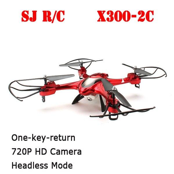 SJ R/C X300-2C 4CH 360 Flips One-key-return 2.4GHz RC Quadcopter w 2MP HD Camera Headless Mode RTF
