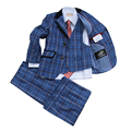 Boys blazers suits for Weddings Kids Blue Tuxedos Clothing sets Page boy Outfits 3 pieces Ring bearer Suits Baby Birthday Gift