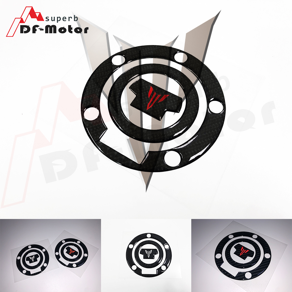 Fuel Tank Cap Sticker Protector 3D Carbon Fiber Reflective Fit For YAMAHA MT MT-07 MT-09 MT07 MT09 FZ-07 FZ-09