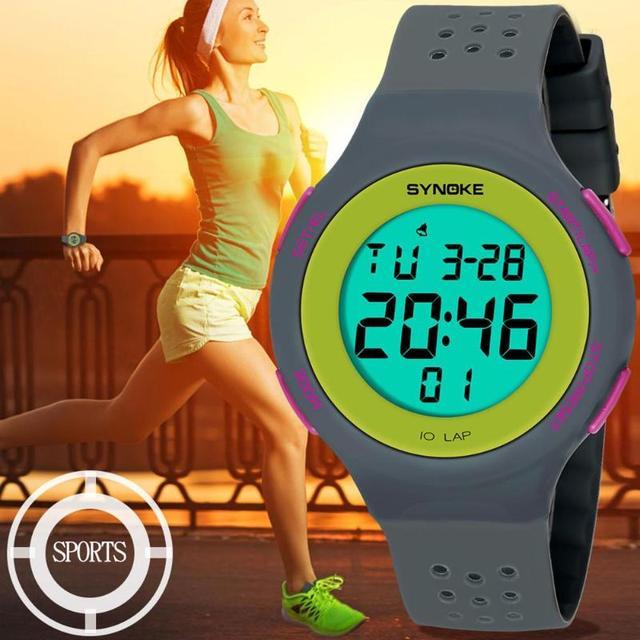Ультратонкие унисекс электронные цифровые спортивные водостойкие светящиеся часы для подростков мужские погружение 50 м светодио дный цифровой светодиодный военные спортивные часы