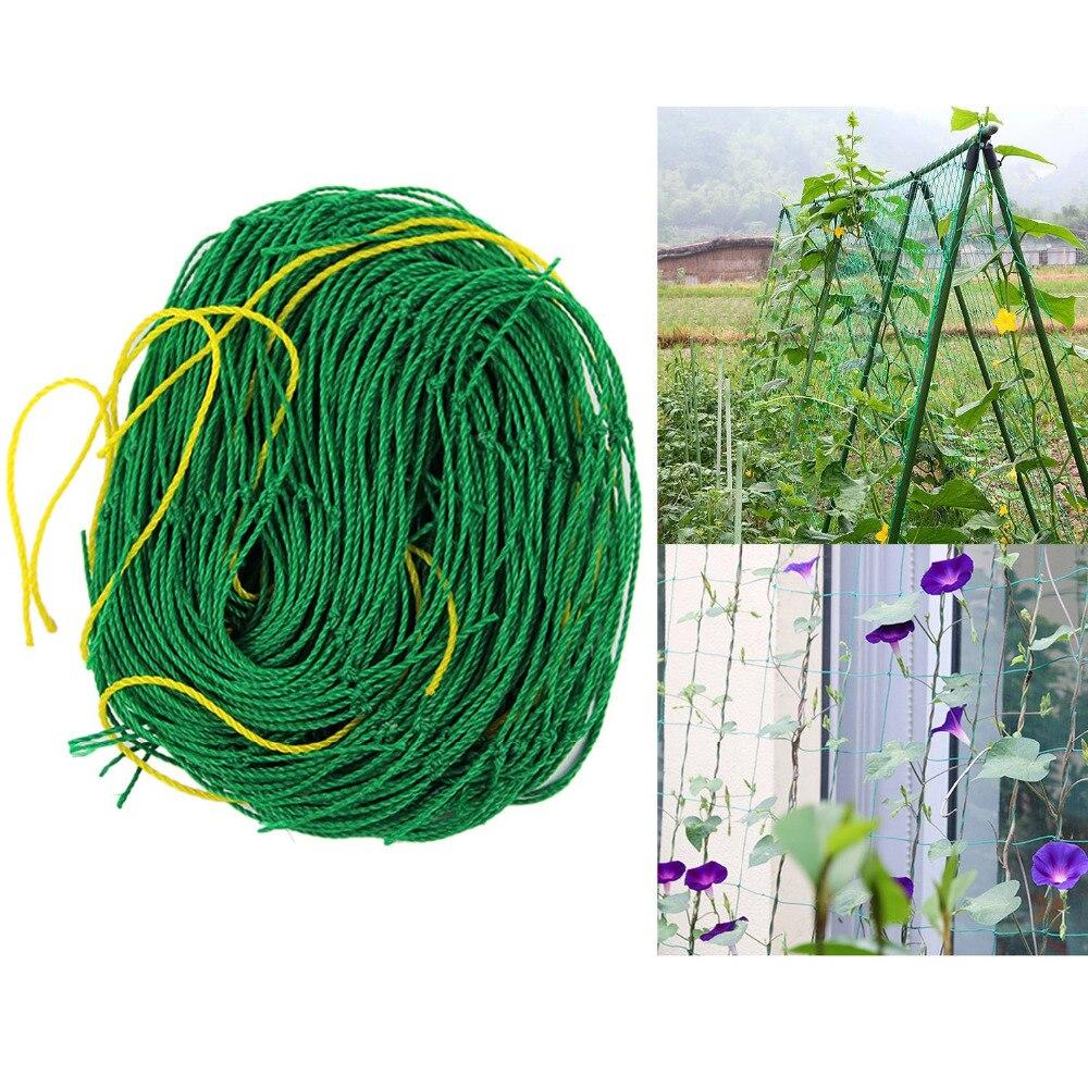 1 8m Length Vegetables Fruits Gardening Nylon Trellis Support Net Frame Grow Fence for Climbing Vine Bean Plants Garden Tools