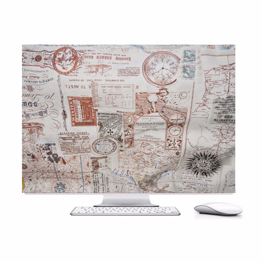 Best quality,Travel around the world,HAND MADE Padded velvet Dust Cover for Apple iMac 27-inch - Screen Monitor Protector Guard