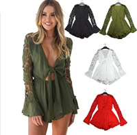 Women Shorts Boho Jumpsuit Casual Flounce Overall Beach Summer Style Resort Romper