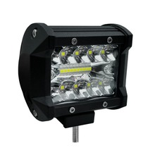 4 дюймовый 60 Вт двухрядный светодиодный осветительный бар 6000K для автомобиля, рабочий свет, дневные ходовые огни, модифицированный внедорожный светильник для крыши, украшение автомобиля