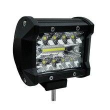 Barra de luz Led de 2 filas de 60 W de 4 pulgadas, luz de trabajo de coche de 6000 K, luces de circulación diurna modificadas  decoración del coche de la barra de luz del techo de carretera
