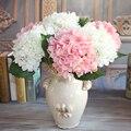 Rose1 francês Bouquet Artificial Peônia Flores de Seda Plantas Sala de Decoração De Casamento Arranjo Hortênsia DIY Flores Artificiales