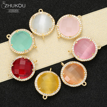 ZHUKOU Новые 18x22 мм коннекторы с кристаллами аксессуары для ожерелья ювелирные изделия для изготовления конфет ювелирные изделия фурнитура для украшения Модель: VS334