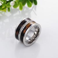 Nieuwe! 14mm breed Top kwaliteit rvs ringen voor Mannen fasthion charm luxe Mannen sieraden SSC005