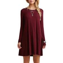 14 renkler yeni moda pamuk sonbahar kış kısa hanım uzun kollu casual gevşek mavi kırmızı elbise pileli mini parti elbiseler