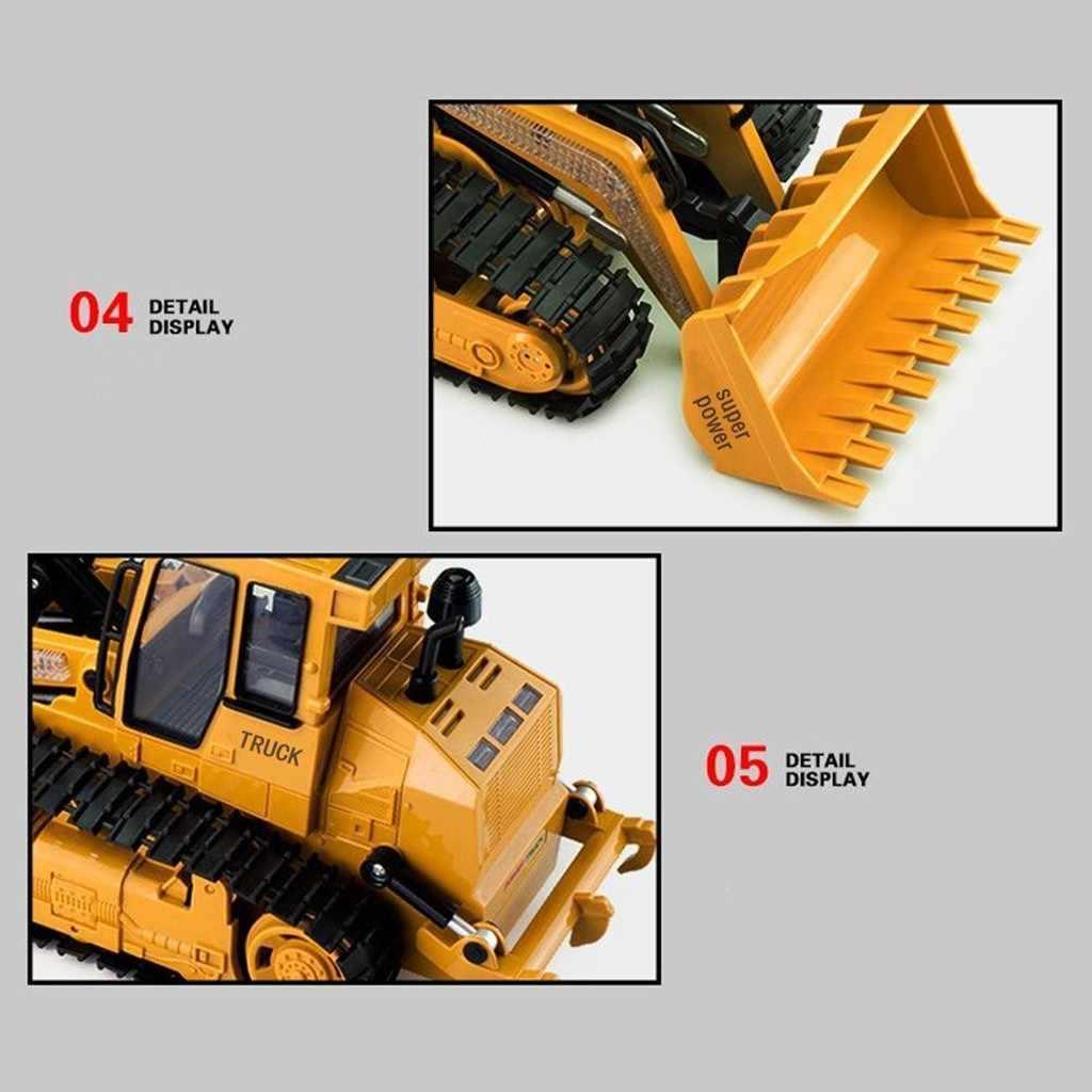 1:12 RC экскаватор 5CH 2,4 ГГц пульт дистанционного управления Строительная Машина бульдозер RC грузовик игрушки с музыкальным светом Радиоуправляемый трактор Brinquedos
