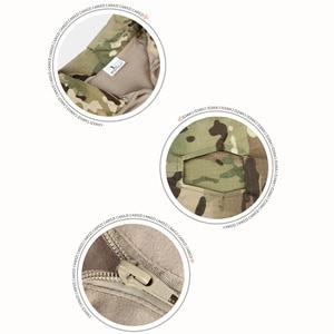 Image 5 - 迷彩戦術軍服ペイントボール軍カーゴパンツ戦闘ズボンマルチカムmilitar戦術パンツ膝パッド