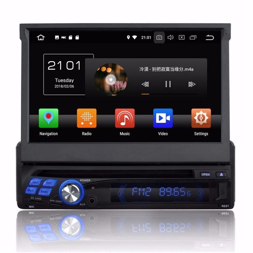 Android 8 0 Octa Core 1 Din 7 Universal Car DVD Player With Radio GPS Bluetooth