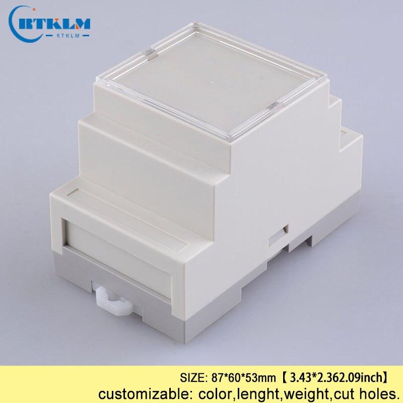 Din Rail Box Plastic Electronics Project Box Abs Cabinet DIY PLASTIC Enclosure 87*60*53mm Pcd Circuit Board Design Outlet Box