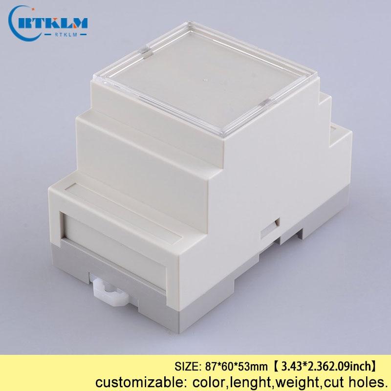 Trilho Din caixa DE PLÁSTICO caixa de projeto eletrônica caixa de plástico abs gabinete DIY circuito 87*60*53mm pcd projeto da placa de caixa de tomada